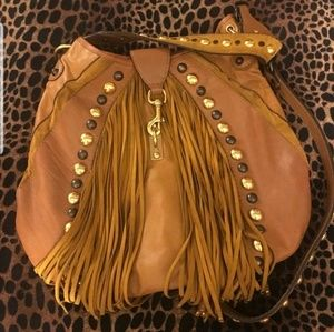 Gucci Suede Leather Tan Baboushka Indy Hobo Bag